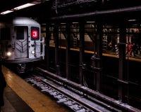 Subway rides. Manhattan, NY Royalty Free Stock Photography