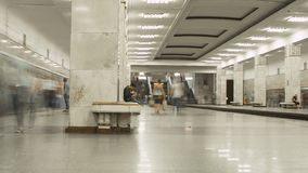 Subway in rush hour stock video footage