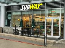Subway Sandwich Shop located at the Convention Center Vancouver, BC royalty free stock images