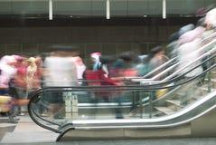 Subway scene. People motion blur in a subway station in Kuala Lumpur Malaysia Royalty Free Stock Image