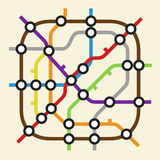 Subway scheme icon Royalty Free Stock Photography
