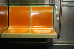 Subway Seats Royalty Free Stock Images