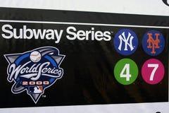 Subway Series 2000 World Series Stock Image