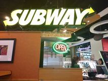 Subway shop in thailand Stock Images