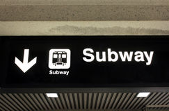 Subway sign Stock Photos