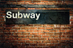 Subway Sign Royalty Free Stock Photos