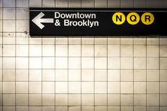 Subway sign in Manhattan Stock Image