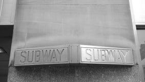 Subway Sign Royalty Free Stock Photography