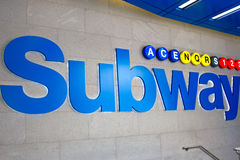 Subway sign, NYC Stock Image