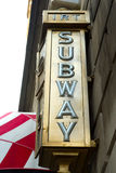 Subway Sign, NYC Royalty Free Stock Photo