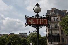 The subway sign in Paris Stock Photos