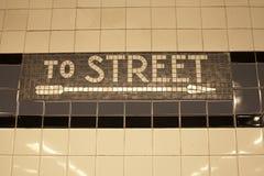 Subway sing Royalty Free Stock Image