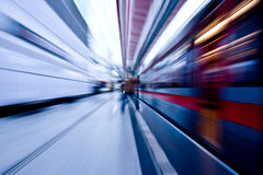 Subway speeding by Royalty Free Stock Image