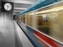 Subway speeding Stock Photos