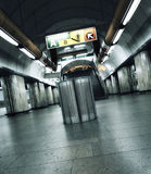 Subway spirit. Prague subway station with special postprossessing Stock Photos
