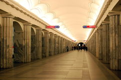 Subway in St  Petersburg Royalty Free Stock Image