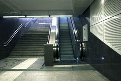 Subway stairs. Stairs in a subway station in Bucharest Royalty Free Stock Photos