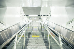 Subway stairs and escalator Royalty Free Stock Images