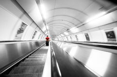Subway stairs. Motion Stock Images