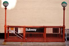 Subway station. This picture represents a subway station in New York City Royalty Free Stock Photography