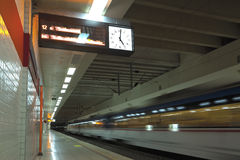 Subway station. Waiting the train in metro station Stock Image