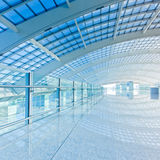 Subway station. Interior of the modern mall of beijin airport subway station Stock Image