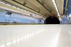 Subway station. Bright empty subway station in Madrid Spain Stock Photos