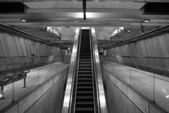 Subway Station. Escalator in BART subway station, san francisco, california Royalty Free Stock Image
