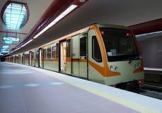 Subway Station. A train entering subway station Royalty Free Stock Images