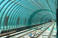 Subway Station. A train entering subway station Royalty Free Stock Photography