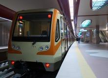Subway Station. A train entering subway station Royalty Free Stock Photos