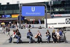 Subway station Alexanderplatz in Berlin Stock Photo