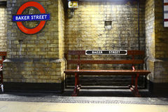 Subway station of Baker street, London Royalty Free Stock Photo
