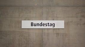 Tabular metro station of the Bundestag Stock Image