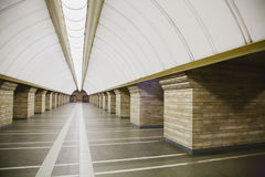 Subway station in a big city Royalty Free Stock Photos