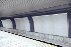 Subway station with blank billboards Royalty Free Stock Photography