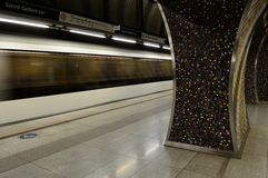 Subway station Budapest metro. Underground Royalty Free Stock Images