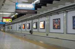 Subway station, buenos aires, argentina Royalty Free Stock Photography