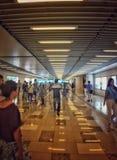 Subway station. China Shanghai subway station off work peak time busy Stock Photos