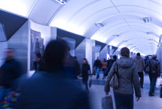 Subway station crowd Royalty Free Stock Photos