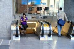 Subway Station Entrance. A subway station entrance in Toronto Royalty Free Stock Photos