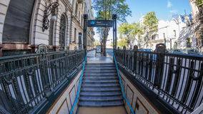 Subway station entrance, buenos aires, argentina Royalty Free Stock Photo
