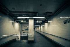 Subway Station Entrance Exit, Brooklyn, New York royalty free stock photo