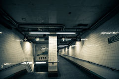 Subway Station Entrance Exit, Brooklyn, New York Stock Photography