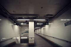 Subway Station Entrance Exit, Brooklyn, New York Stock Photo