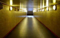 Subway Station Hallway and staircase Stock Image