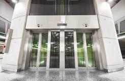 Subway station interior, elevator Royalty Free Stock Photos