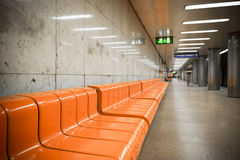 Subway station interior Royalty Free Stock Photo