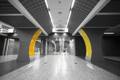 Subway station interior Stock Images