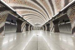 Subway station interior Stock Image